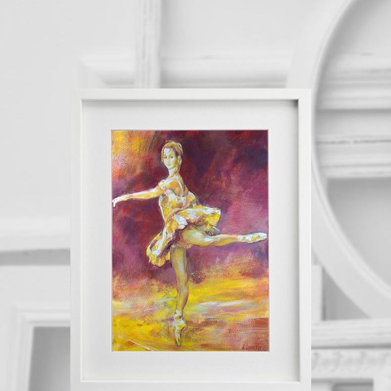 Baletnica w żółcieniach 280416, we wnętrzu
