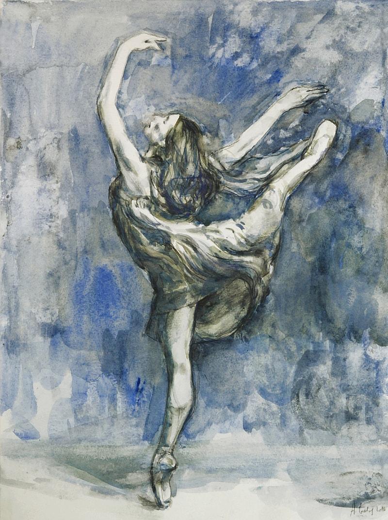 Taniec baletnicy obraz