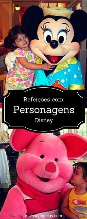 Refeições com personagens da Disney