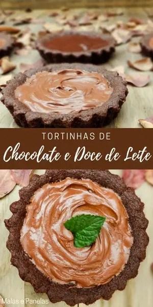 Tortinhas de Chocolate e Doce de Leite | Malas e Panelas