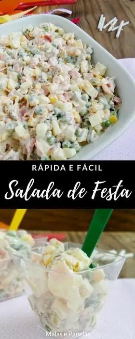 Salada de Festa Rápida e Fácil | Malas e Panelas