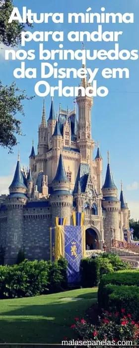 Altura mínima para andar nos brinquedos da Disney em Orlando | Malas e Panelas