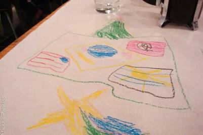 Desenho na mesa