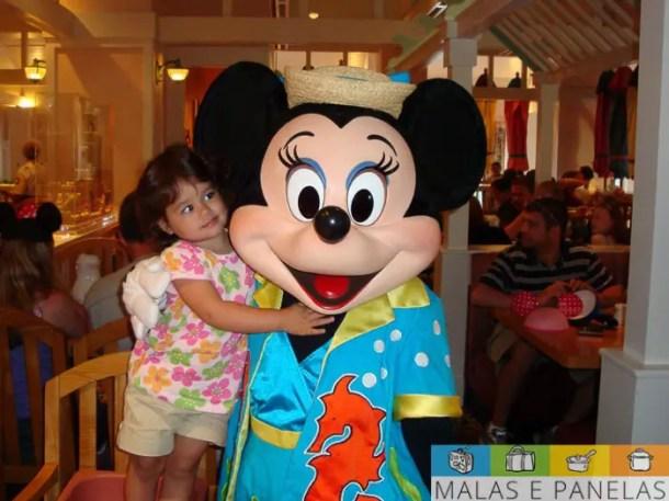 Café da manhã com a Minnie no Beach Club