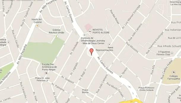 endereço CASV Porto Alegre em um mapa
