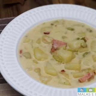 Receita: Sopa cremosa de Batata e Bacon