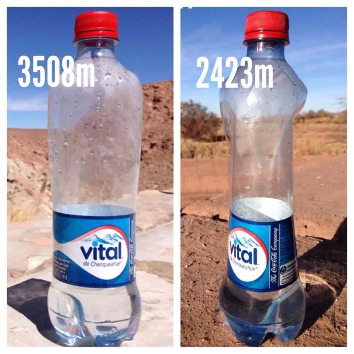 Os efeitos da diferença de altitude!