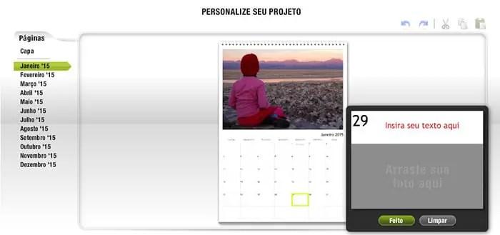 Calendário Personalizado FotoRegistro