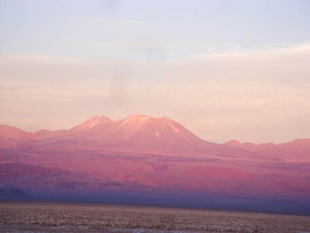 Pôr do Sol no Salar do Atacama