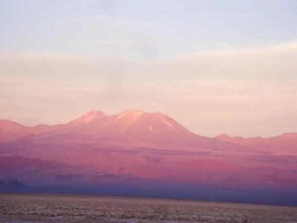 Pôr do Sol no Salar do Atacama