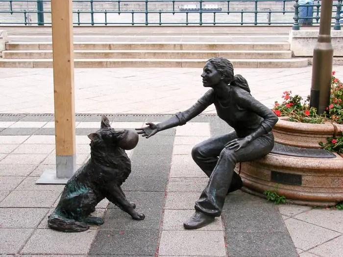 Escultura na Vigadó Ter