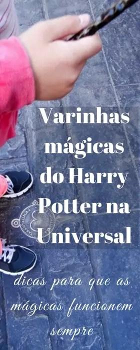 Fazendo mágica de verdade com as varinhas do Harry Potter na Universal