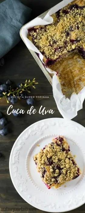 Receita de Cuca de Uva | Malas e Panelas