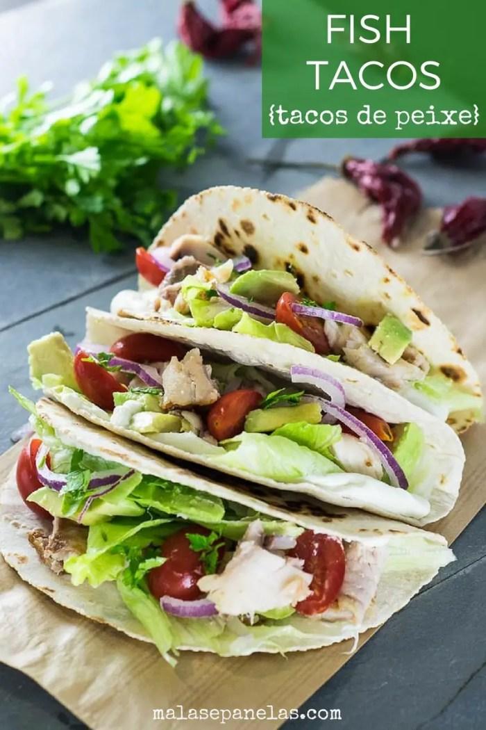 Receita com gostinho de calif rnia fish tacos malas e for California fish tacos