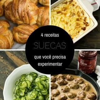4 receitas suecas que você precisa experimentar