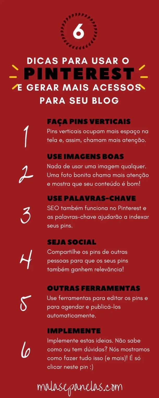 6 dicas para usar o Pinterest e aumentar os acessos do seu blog