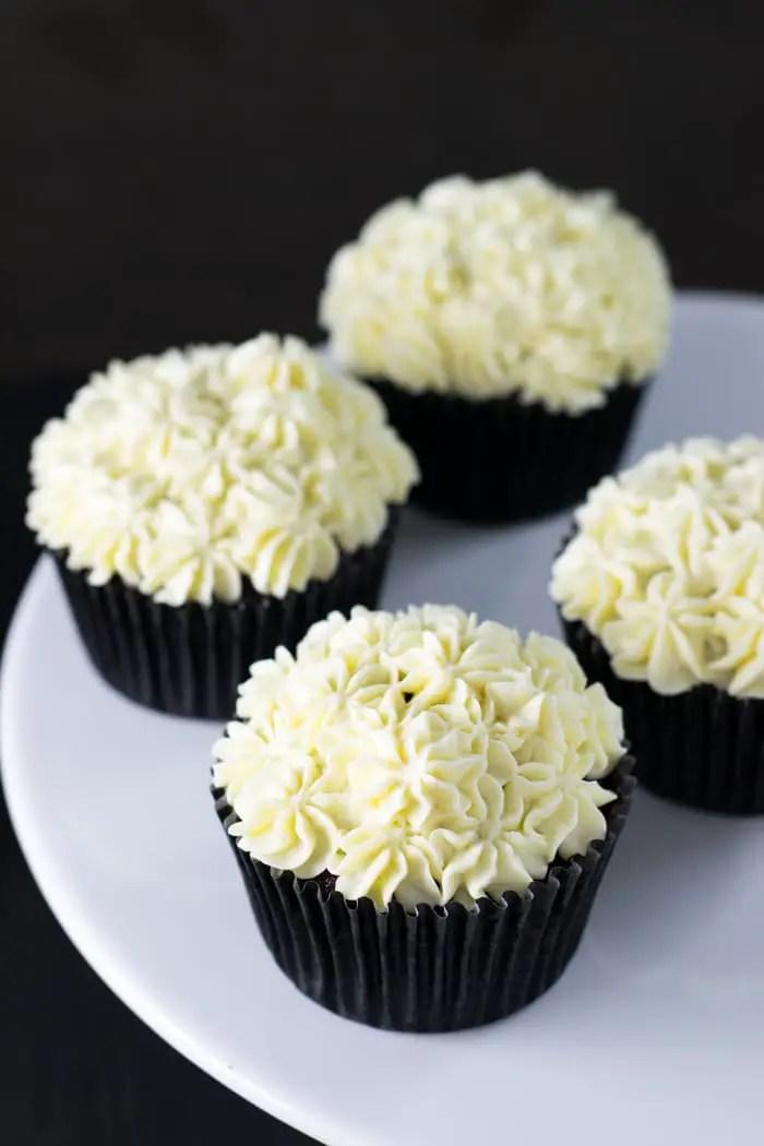Cobertura de red velvet cupcakes