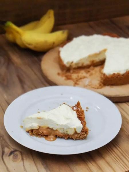 Torta de Banana e Doce de Leite