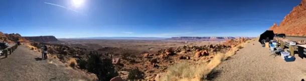 No mirante da estrada para Page, Arizona, a US 89