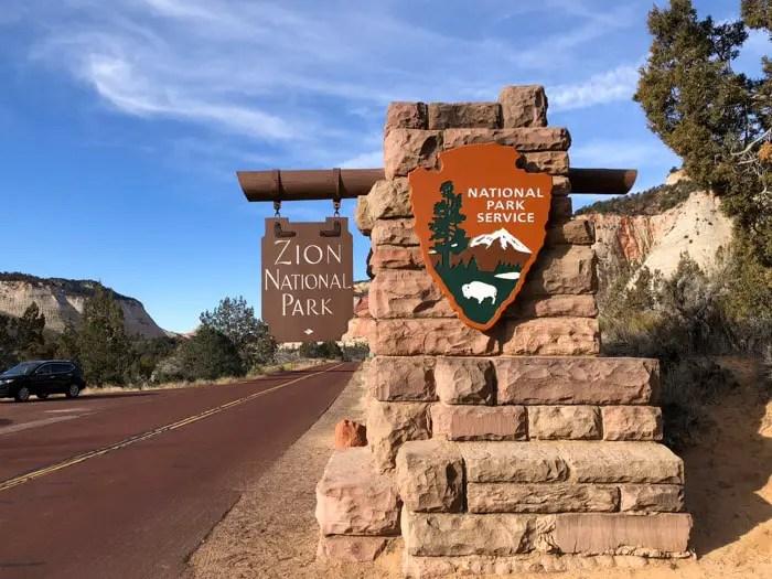 Entrada leste do Zion National Park