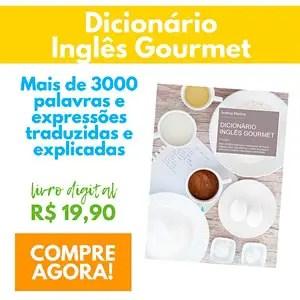 Dicionário de culinária Inglês-Português