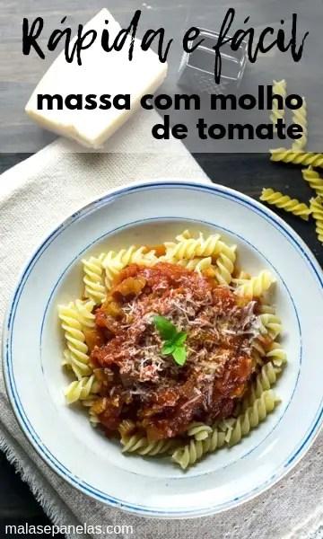 Receita Rápida e Fácil | Massa com Molho de Tomate #receita #massa