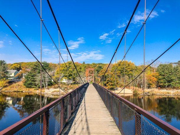 ponte suspensa para pedestres
