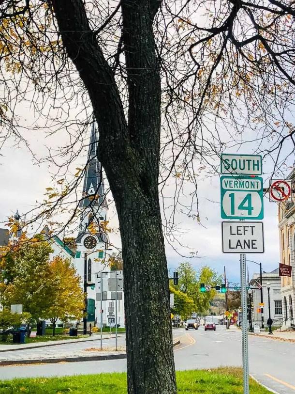 Saindo de Vermont
