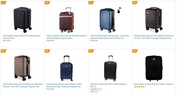 bagagem de mão preços