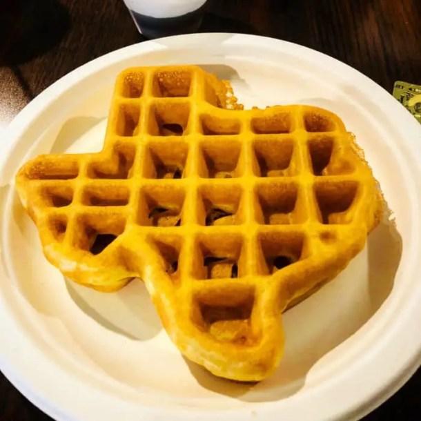 Waffle no formato do Texas