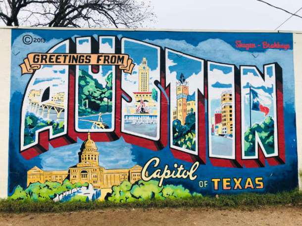 Mural Greetings from Austin