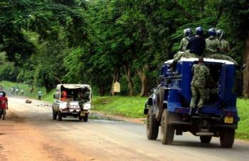 Malawi Police riot vehicle