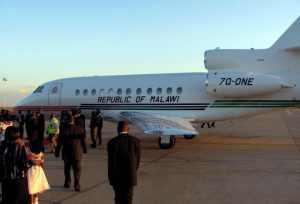Malawi presidential jet