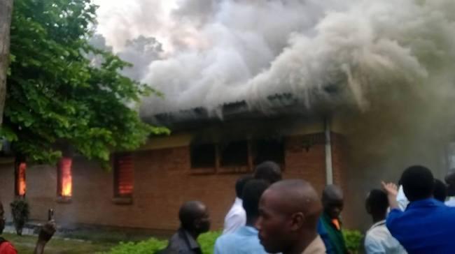 Mulanje Hospital on Fire (2)