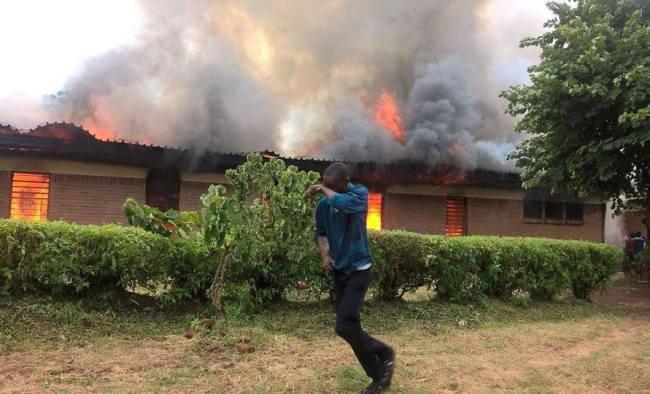 Mulanje Hospital on fire