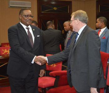 Scotland Secretary of State David Mundell & Malawi President Peter Mutharika