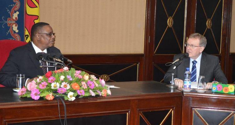 Scotland Secretary of State David Mundell and Malawi President Peter Mutharika meet