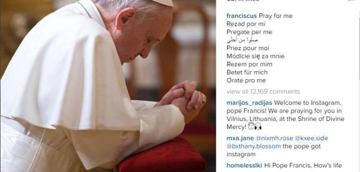 Pope Francis joins Instagram