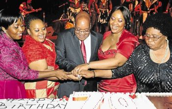 Jacob Zuma and his 4 wives