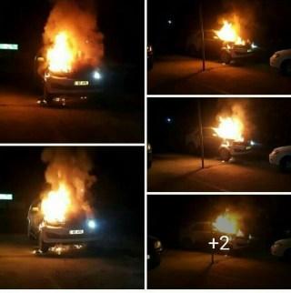 Jessie Kabwila vehicle up in flames (6)