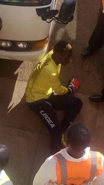 Mangochi Police goalie was manhandled and smeared with pork fats.