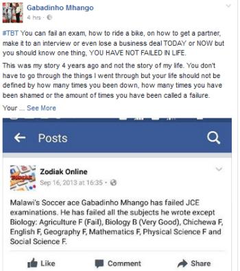 Gabadihno Mhango, JCE
