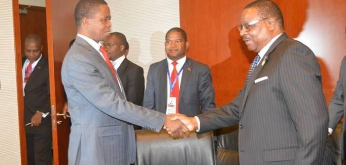 Edgar Lungu, Peter Mutharika