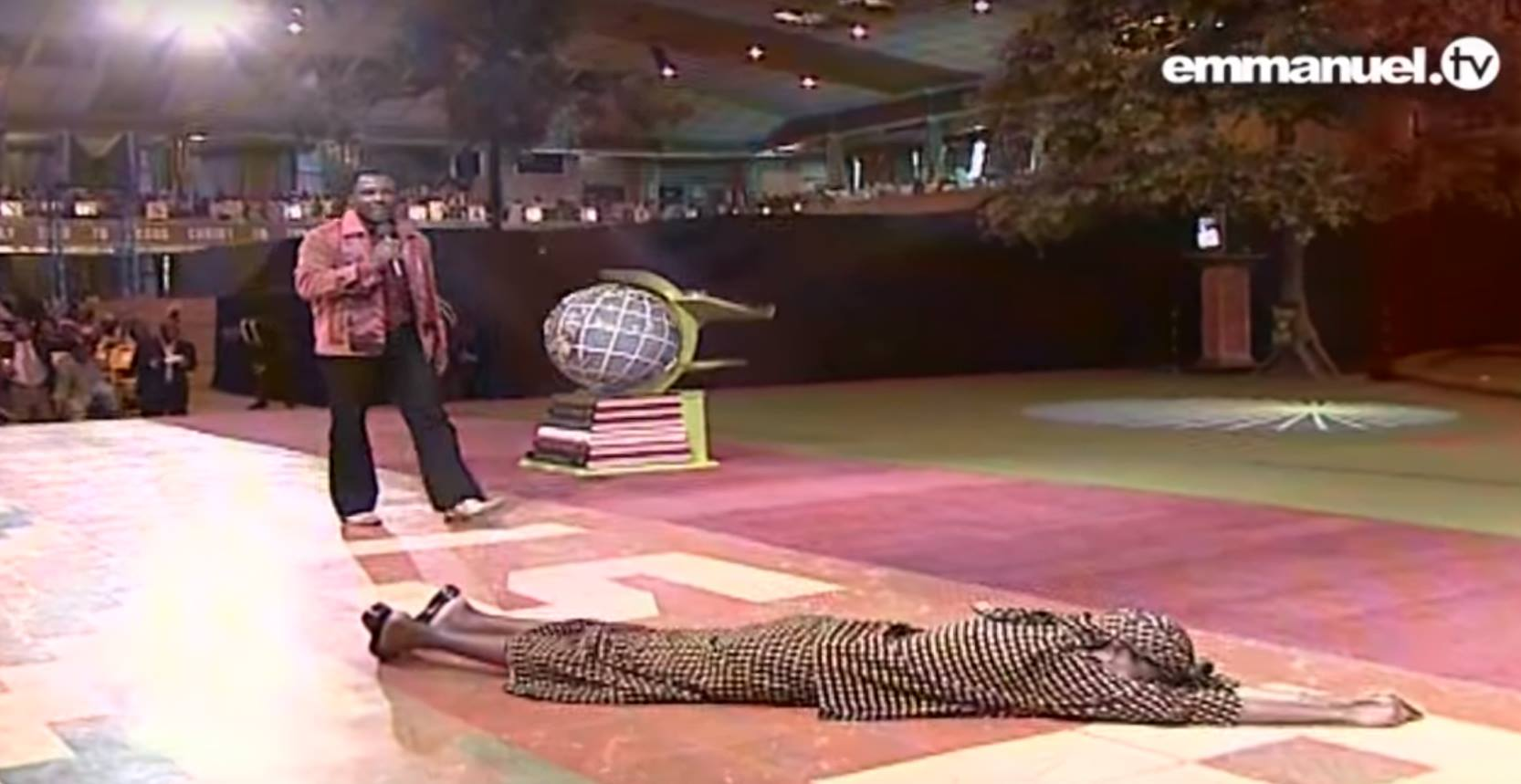 T B  Joshua runs away from a woman tormented by ghosts