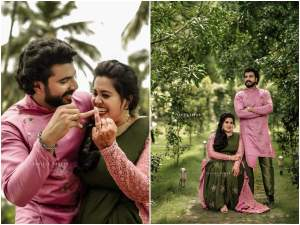 anoop krishnan enegagement: അനൂപ് കൃഷ്ണന്റെ ഇഷ!  This is my sweetheart!  The first reaction after the engagement was viral!  Greetings celebrities and fans!  – seethakalyanam fame anoop krishnan introduces his fiancee after engagement response goes viral