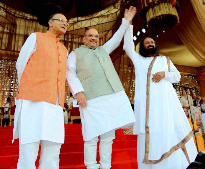 fm-arun-jailtey-bjp-president-amit-shah-art-of-living-founder-sri-sri-ravishankar_1457931012140