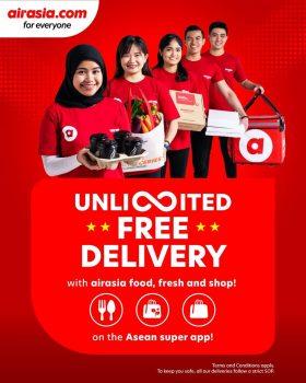 AirAsia PENGHANTARAN PERCUMA tanpa had untuk pembelian Makanan, Segar & Kedai anda