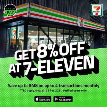 7-Eleven x RazerPay Diskaun 8%