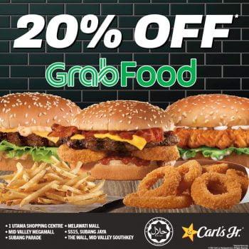 Potongan Carl's Jr Tambahan 20% dengan GrabFood