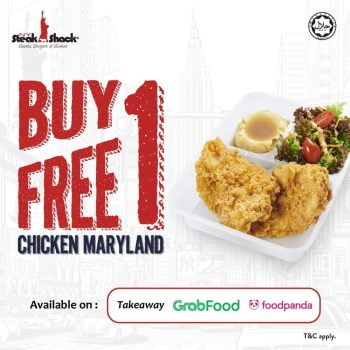 NY Steak Shack Beli 1 tawaran 1 Maryland Chicken PERCUMA